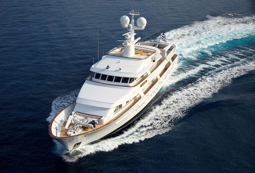 Ancallia motor yacht charter east med yachting for Motor boat rental greece