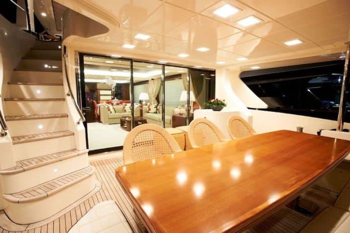 Motor Yacht Jester Aft Dining