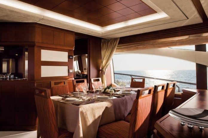 Motor Yacht Jester Dining