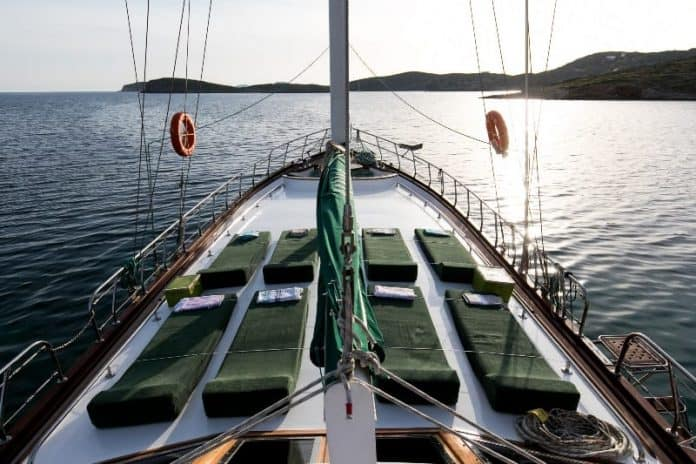 Gulet Michele fore deck