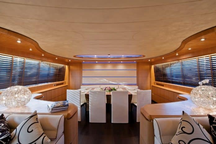 Motor Yacht Paris A Dining