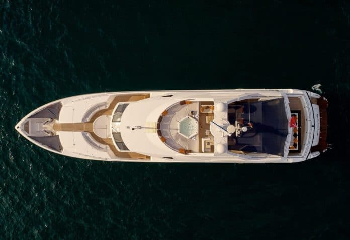 Motor Yacht Barracuda Red Sea aerial view