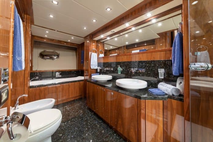 Motor Yacht Barracuda Red Sea Master Cabin Bathroom