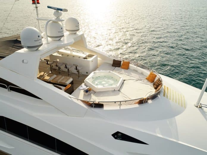 Motor Yacht Barracuda Red Sea Skydeck View