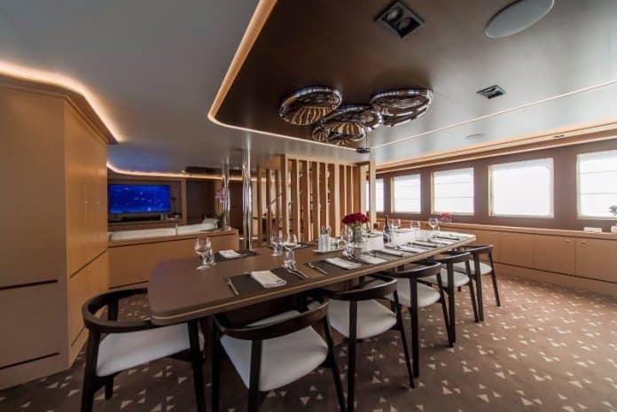 Motor sailor Aiaxaia dining area