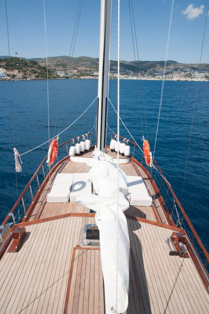 Gulet Anka fore deck