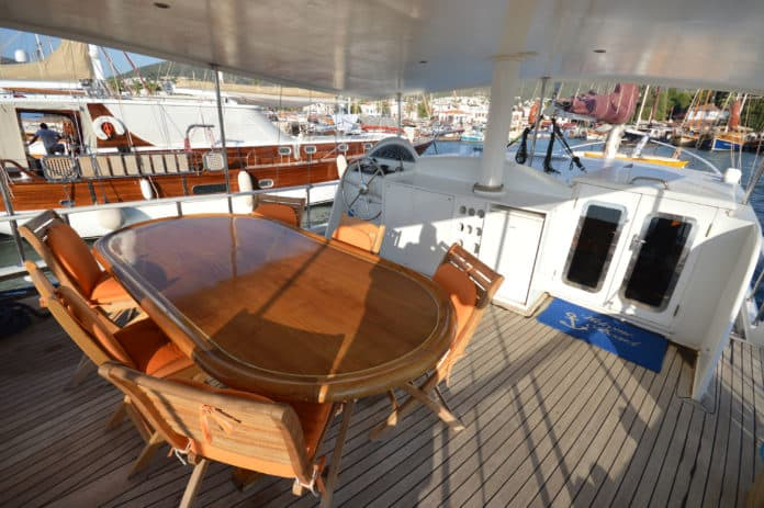 Gulet Blue Diamond aft deck