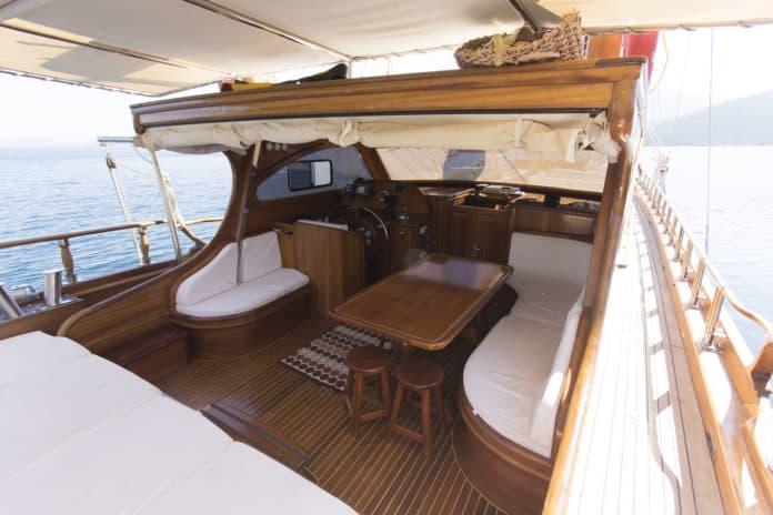 Gulet Sea Life aft deck