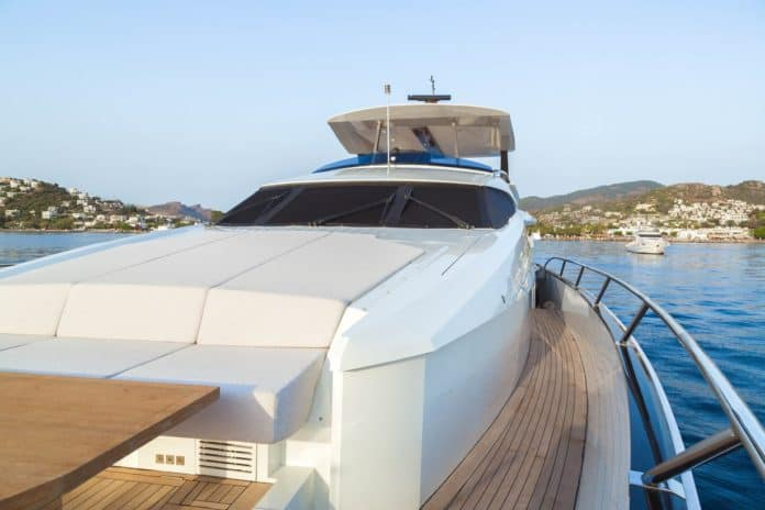 Motor Yacht Lara view from fore deck