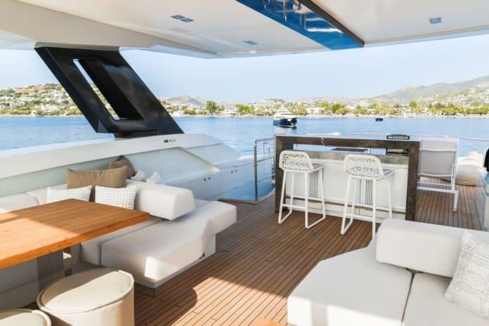 Motor Yacht Lara Aft Deck