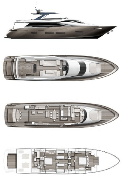 Motor Yacht Lara layout