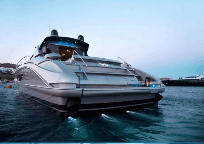 Motor Yacht W Stern View
