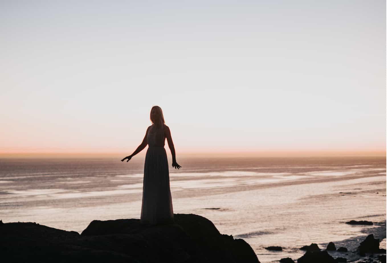 Lady on Rocks