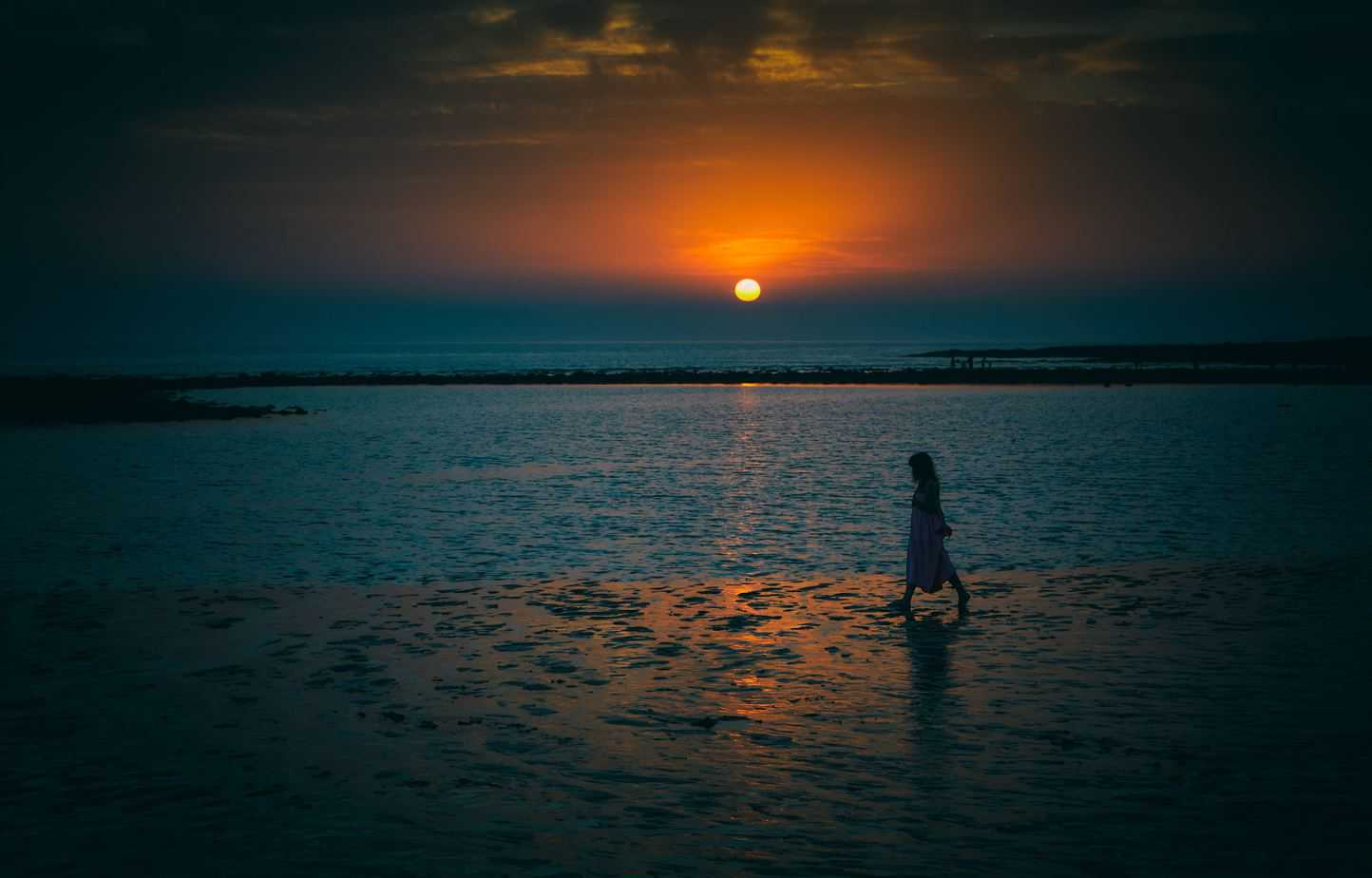 Lady at Sunset