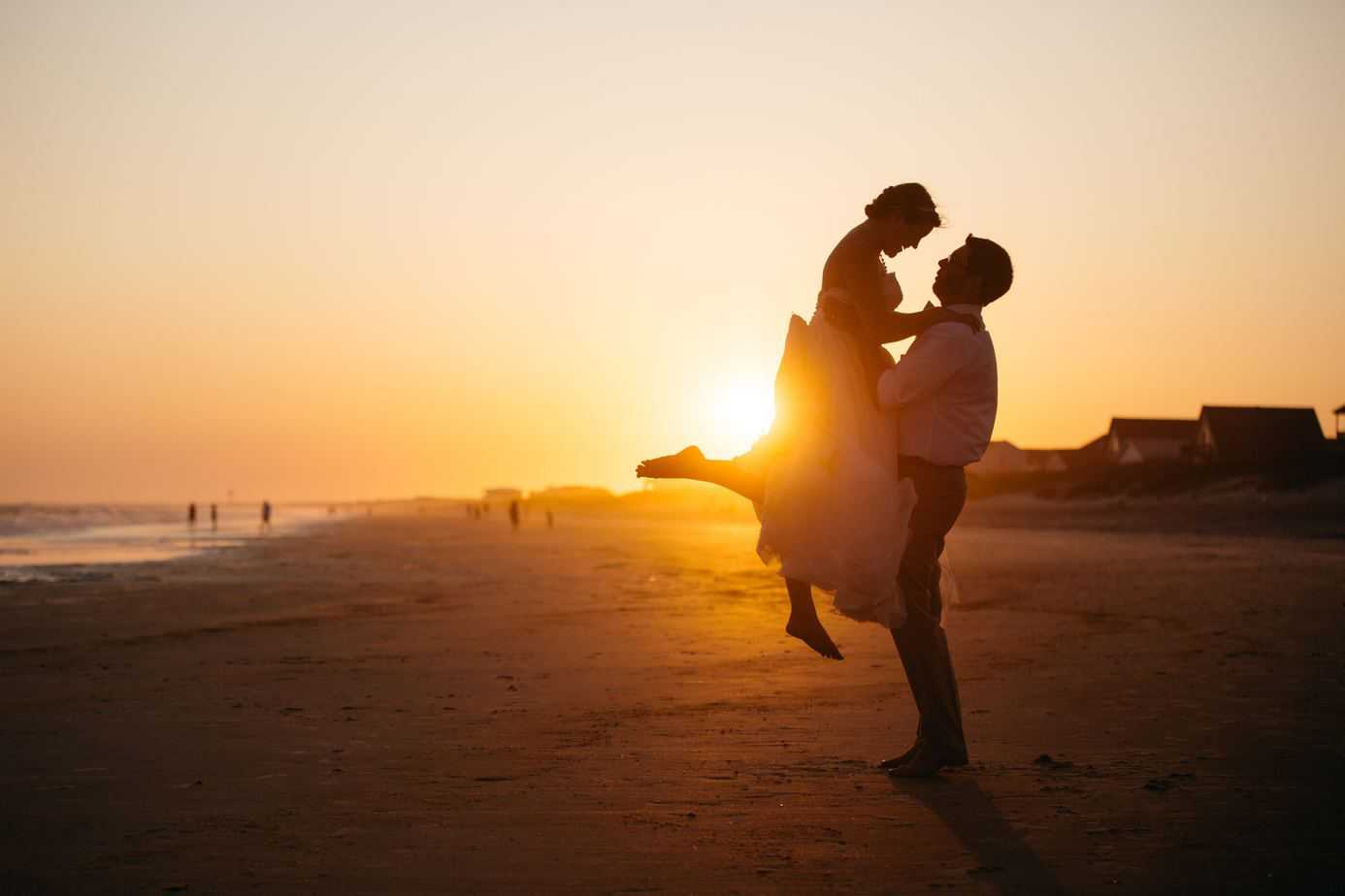 Couple on Beach Sunset