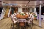Motor Yacht Donna Del Mare lower aft deck